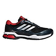 Mens adidas Barricade Club Court Shoe - Black/Silver/White 9.5