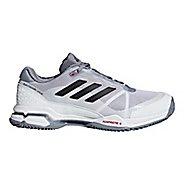 Mens adidas Barricade Club Court Shoe - White/Black/Grey 10.5