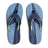 Mens Under Armour Marathon Key III T Sandals Shoe - Blue/Green 7