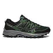 Mens Saucony Excursion TR12 Trail Running Shoe - Green/Black 10