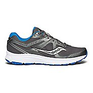 Mens Saucony Grid Cohesion 11 Running Shoe - Charcoal/Blue 12.5