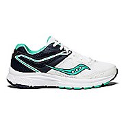 Womens Saucony Grid Cohesion 11 Running Shoe - White/Navy/Teal 5