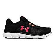 Womens Under Armour Micro G Assert 7 Running Shoe - Black/White/Neo 9