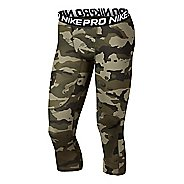 Mens Nike Pro 3/4 Camo Compression Tights