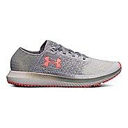 Womens Under Armour Threadborne Blur Running Shoe - Steel/Elemental 5