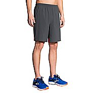 Mens Brooks Go-To 9-inch Unlined Shorts - Asphalt/Blaze XS
