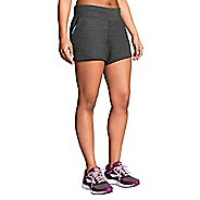 Womens Brooks Revival Unlined Shorts - Heather Black S