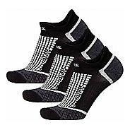 Zensah Grit No-Show Running 3 Pack Socks - Black L