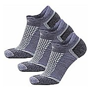 Zensah Grit No-Show Running 3 Pack Socks - Grey L