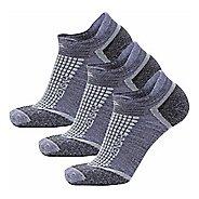 Zensah Grit No-Show Running 3 Pack Socks - Grey M