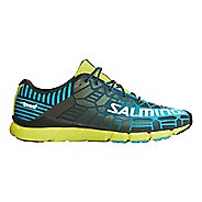 Mens Salming Speed 6 Running Shoe - Blue/Lime 10.5