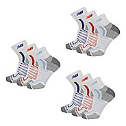 New Balance Half-Cushion Ankle Quarter 9 Pair Socks
