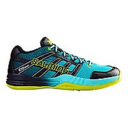 Mens Salming Race X Court Shoe - Turquoise 7.5
