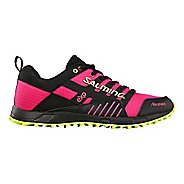 Womens Salming Trail T4 Trail Running Shoe - Black/Pink Glo 10.5