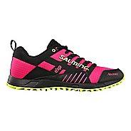 Womens Salming Trail T4 Trail Running Shoe - Black/Pink Glo 8.5