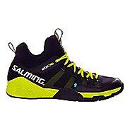 Mens Salming Kobra Mid Court Shoe - Black/Yellow 12.5