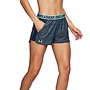 Womens Under Armour Play Up Short 2.0 Novelty Unlined Shorts - Tropical Tide M