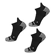 New Balance Running Half Cushion Nylon Low Cut Tab 3 Pair Socks - Black L