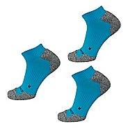 New Balance Cushioned Nylon No Show Running 3 Pair Socks - Blue L