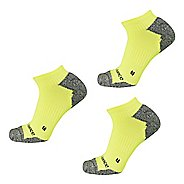 New Balance Running Half Cushion Nylon No Show 3 Pair Socks - Yellow L