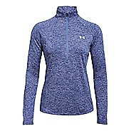 Womens Under Armour Tech Twist Half-Zips & Hoodies Technical Tops - Blue/Silver L