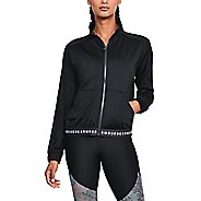 Womens Under Armour HG Armour Full Zip Half-Zips & Hoodies Technical Tops - Black/White XL