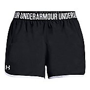 Womens Under Armour Woven Play Up Unlined Shorts - Black/White/White XL