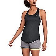 Womens Under Armour HG Armour Mesh Back Sleeveless & Tank Technical Tops - Black/Silver M