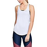 Womens Under Armour HG Armour Mesh Back Sleeveless & Tank Technical Tops - White/Silver L