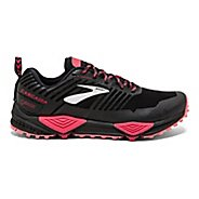 Womens Brooks Cascadia 13 GTX Running Shoe - Black/Pink/Coral 7.5