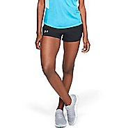 Womens Under Armour Fly By Mini Unlined Shorts - Black/Black L