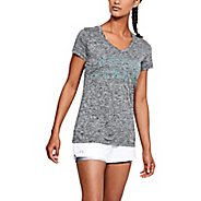 Womens Under Armour Tech Graphic Twist SSV Short Sleeve Technical Tops