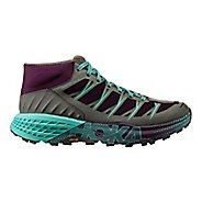 Womens Hoka One One Speedgoat Mid WP Trail Running Shoe - Grape Royale/Alloy 10.5