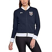 Womens Under Armour Top Step Fleece Bomber Half-Zips & Hoodies Technical Tops