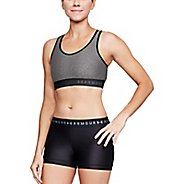 Womens Under Armour Mid Keyhole Heather Sports Bras