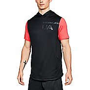 Mens Under Armour MK1 Terry Sleeveless Half-Zips and Hoodies Non-Technical Tops