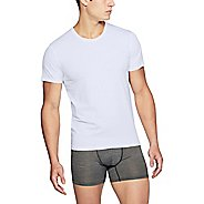 Mens Under Armour Charged Cotton Crew Single Short Sleeve Non-Technical Tops