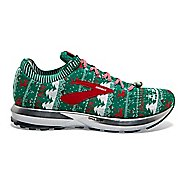 Mens Brooks Levitate 2 Ugly Sweater Running Shoe - Green/White/Red 10