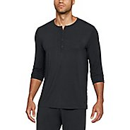 Mens Under Armour TB12 Sleep Henley Long Sleeve Non-Technical Tops