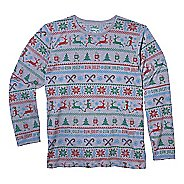 Womens Brooks Holiday Distance Long Sleeve Technical Tops