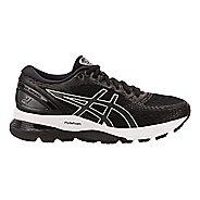 Womens ASICS GEL-Nimbus 21 Running Shoe - Black/Grey 8.5