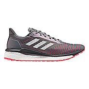 Mens adidas Solar Drive Running Shoe - Grey/White/Red 13