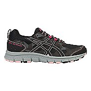 Womens ASICS GEL-Scram 4 Trail Running Shoe - Black/Dark Grey 5.5