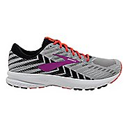 Womens Brooks Launch 6 Running Shoe - Grey/Black/Purple 11