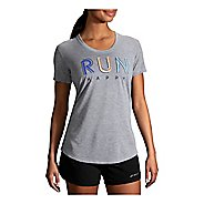 Womens Brooks Distance Graphic Tee Short Sleeve Technical Tops