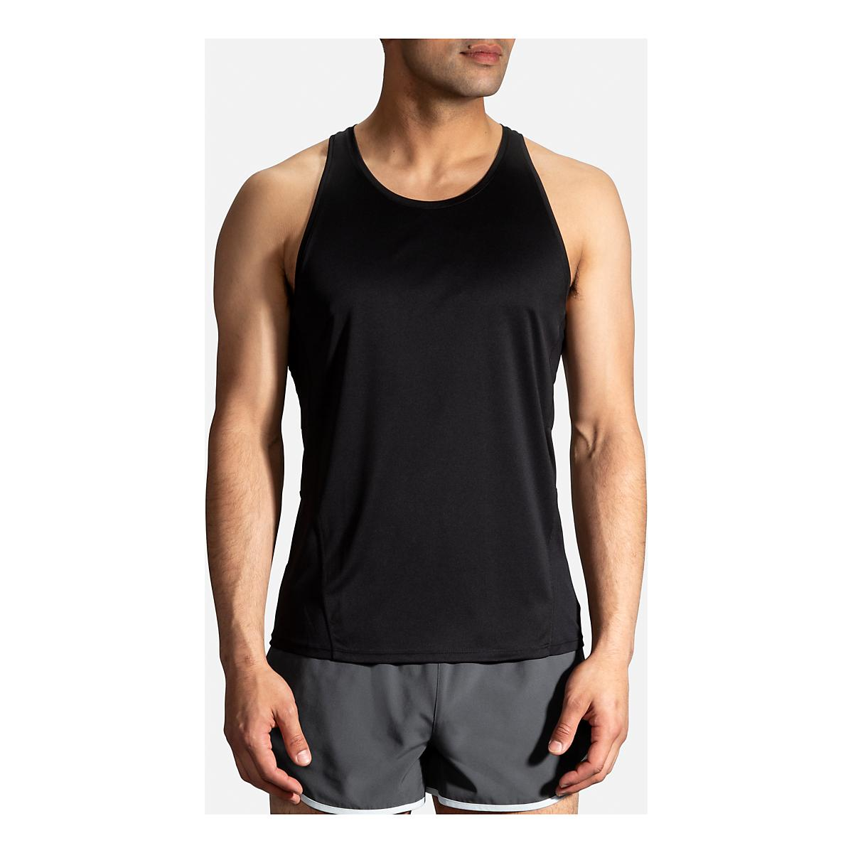 e6495607195cb Mens Brooks Stealth Singlet Sleeveless   Tank Technical Tops at Road Runner  Sports