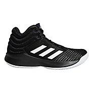 Kids adidas Pro Spark Court Shoe - Black/White 6Y