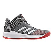 Kids adidas Pro Spark Court Shoe - Grey/Red 6.5Y