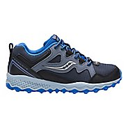 Kids Saucony Peregrine Shield 2 Running Shoe - Grey/Black/Blue 10.5C