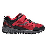 Kids Saucony Peregrine Shield 2 A/C Running Shoe - Red/Black 11C